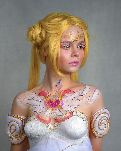 Сейлор Мун (Принцесса Серенити): мой нестандартный косплей с боди-артом