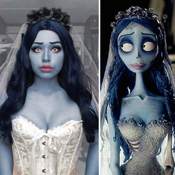 Девушка создаёт необычные косплеи на персонажей мультфильмов и кино
