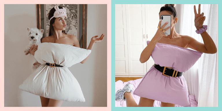 """Новый модный тренд в Instagram: """"прилепи к себе подушку"""""""