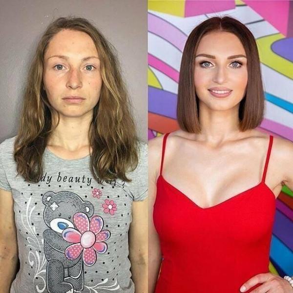 Подборка фото: как девушки выглядят без макияжа и с ним. Можно ли доверять женской красоте?