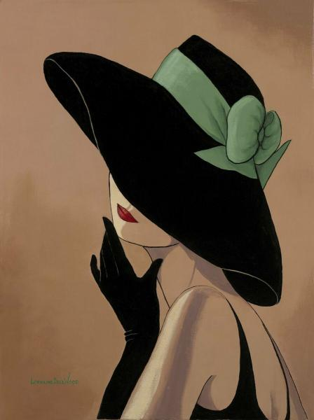 Элегантные женские образы в шляпках художницы Лоррейн дель Вуд