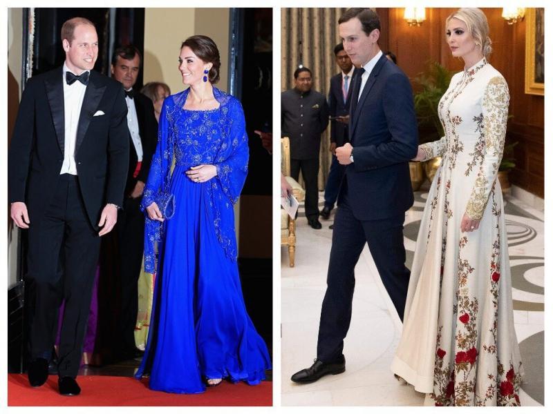 Лучший стиль в туре по Индии: Кейт Миддлтон против Иванки Трамп