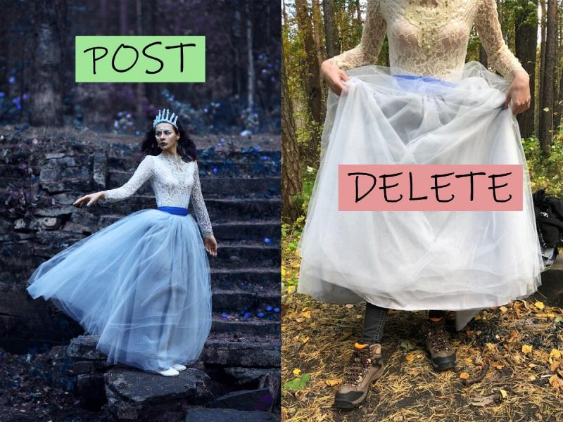 В кадре и за кадром: какие фото не попадают в мой идеальный инстаграм?