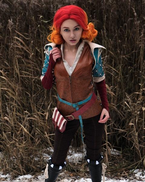 Сделала косплей на Трисс Меригольд из «Ведьмака». Хорошенько помёрзла на улице