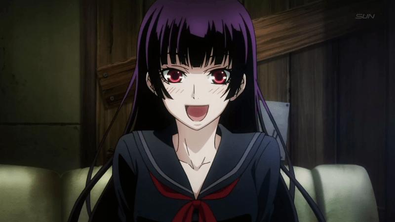 Девушки из аниме с черными волосами.