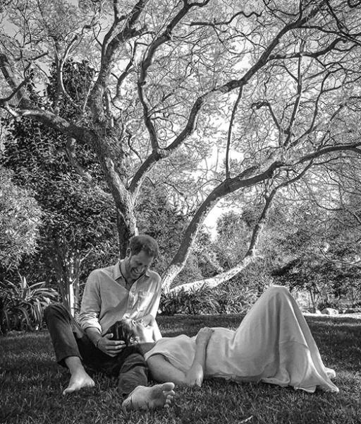 """""""Удаленное"""" фото беременной Меган на фоне древа жизни: """"Мир сценического искусства Сассекских"""""""