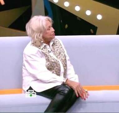 Людмила Поргина пришла на шоу НТВ в кожаных леггинсах. Такого зрелища я не ожидала