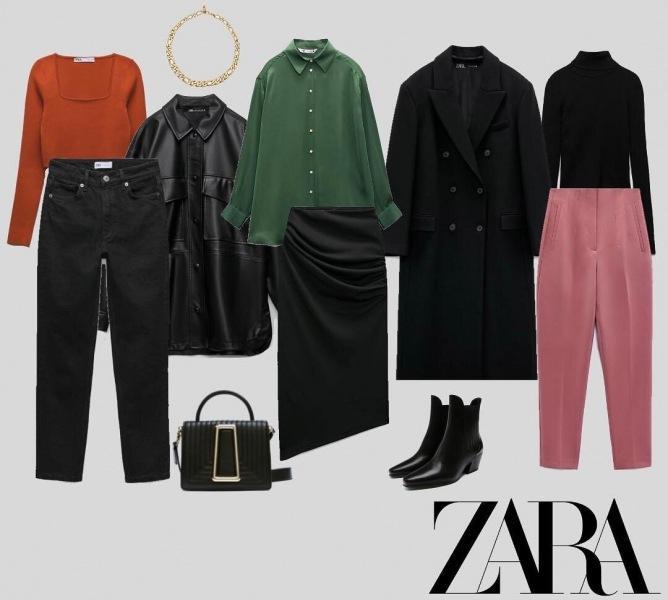 Капсула гардероба и 6 готовых образов от Zara